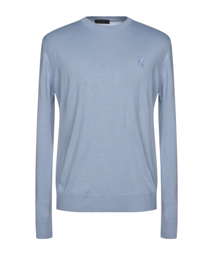 Image for Karl Lagerfeld Man Jumpers Khaki, Sky blue, Green, Cocoa, Bright blue Wool