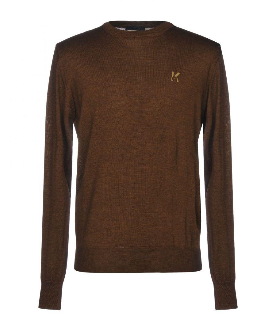 Image for Karl Lagerfeld Khaki Wool Knit Jumper