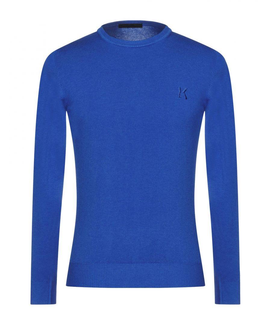 Image for KNITWEAR Man Karl Lagerfeld Bright blue Wool