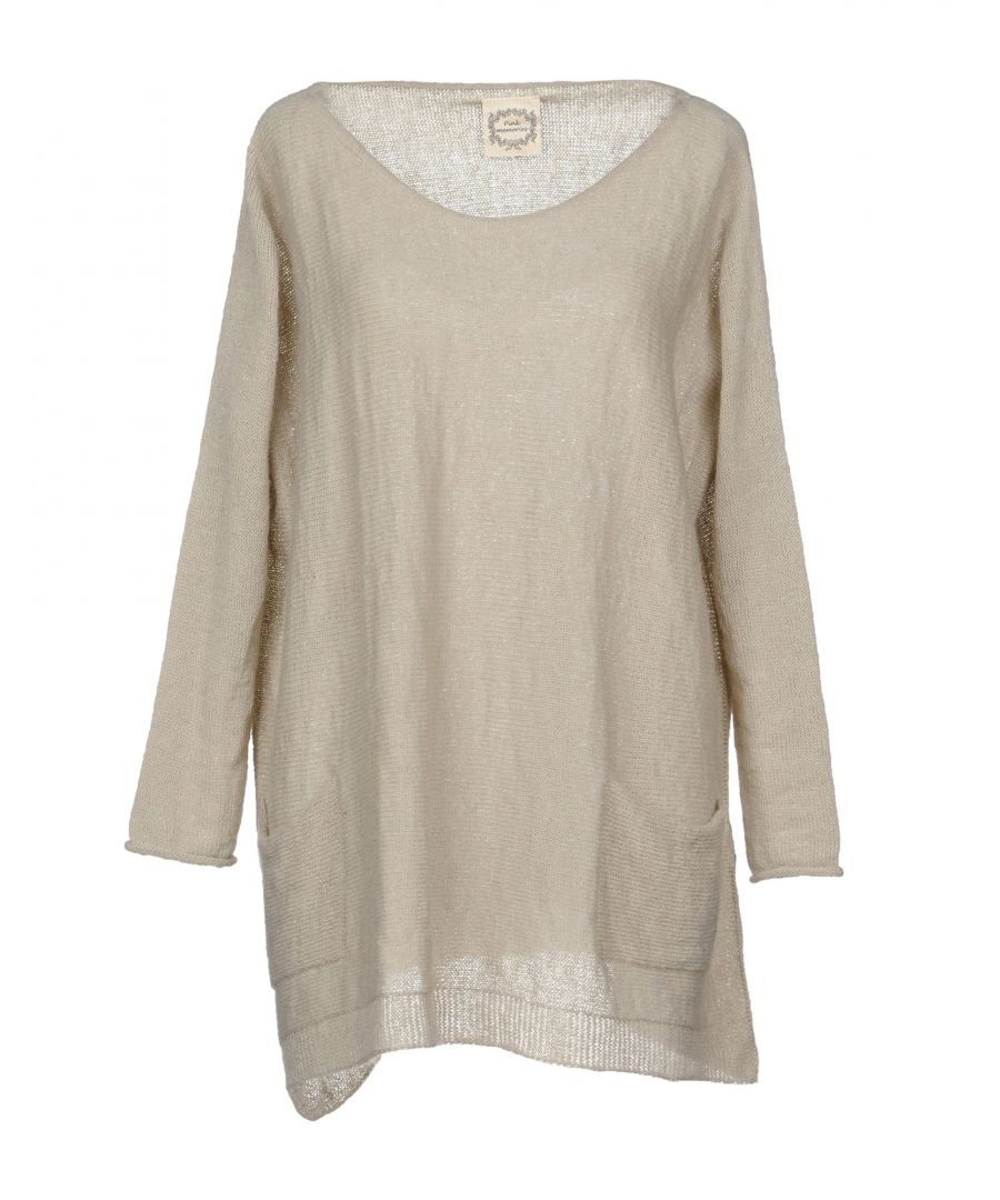 Image for Pink Memories Beige Lightweight Knit Jumper