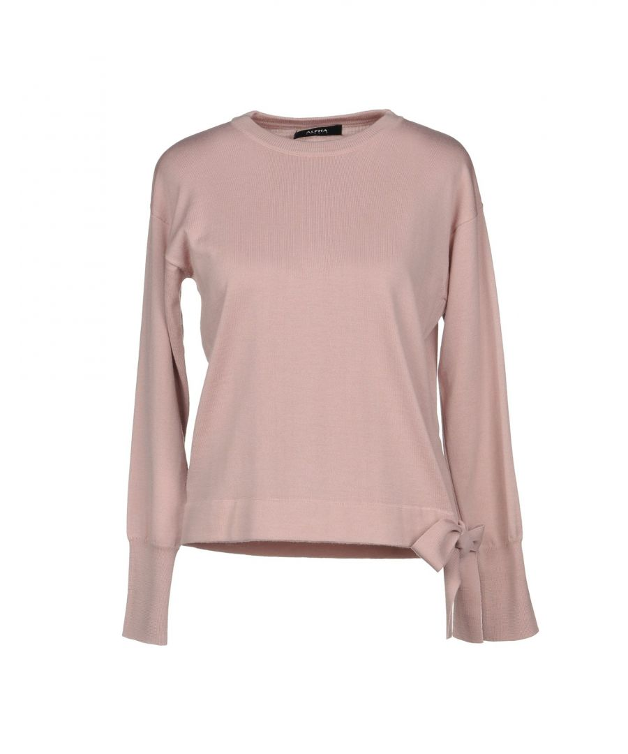 Image for Alpha Studio Pastel Pink Merino Wool Jumper