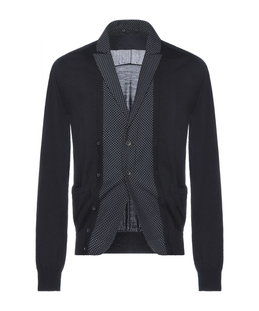 Image for Daniele Alessandrini Dark Blue Wool Cardigan