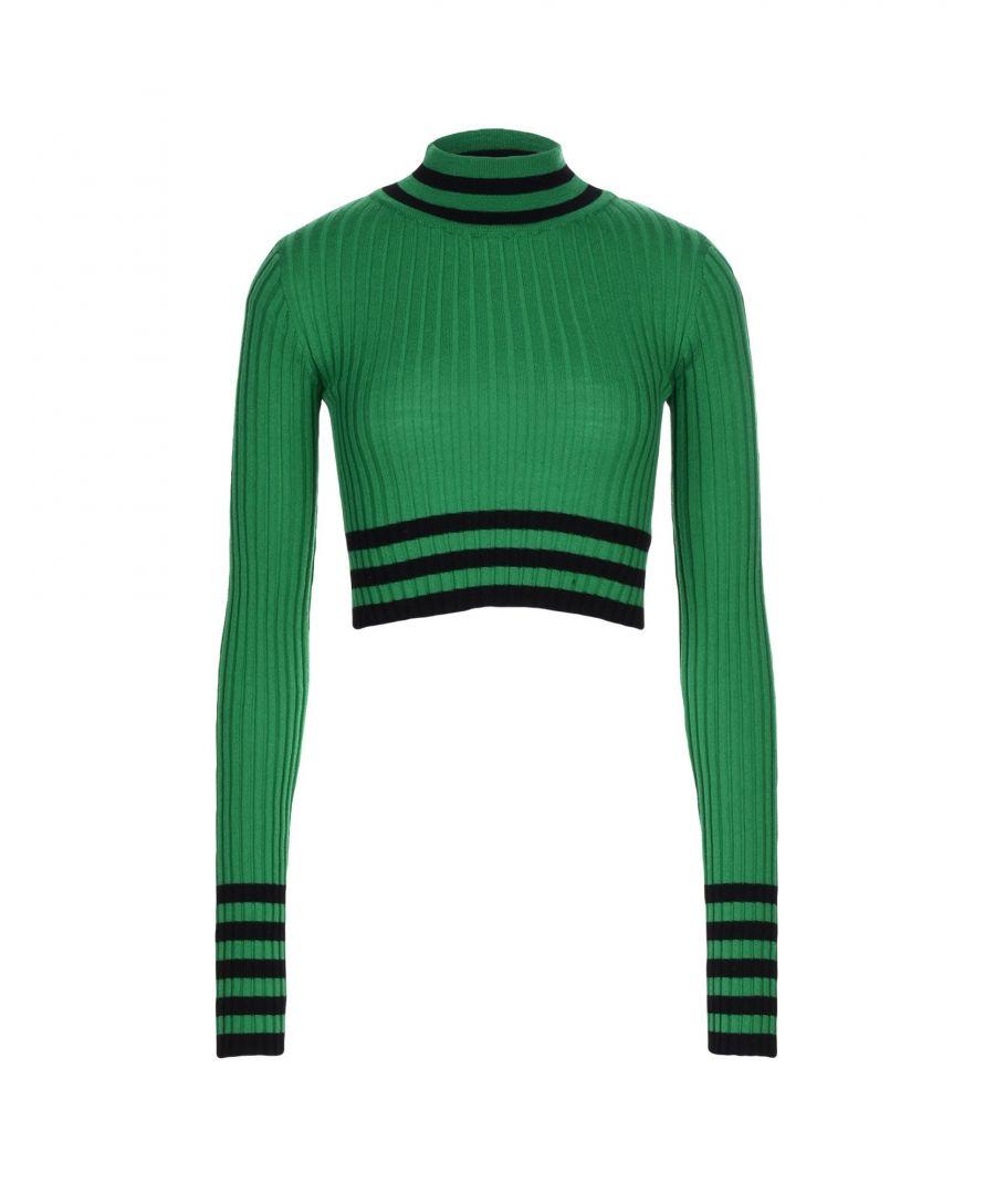 Image for Jucca Green Virgin Wool Turtleneck Jumper