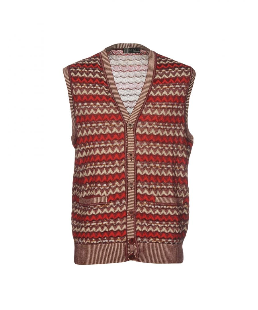 Image for Missoni Sport Maroon Pattern Cotton Sleeveless Knit