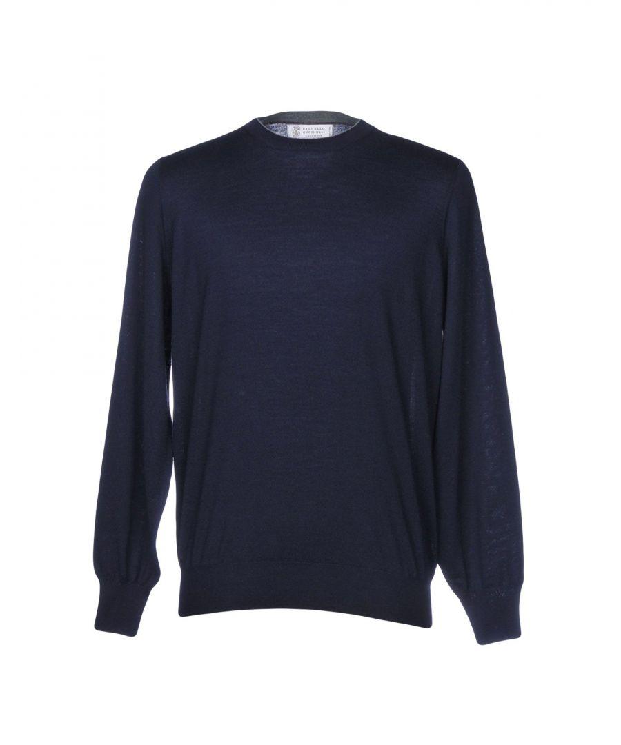 Image for Brunello Cucinelli Dark Blue Wool Knit Jumper