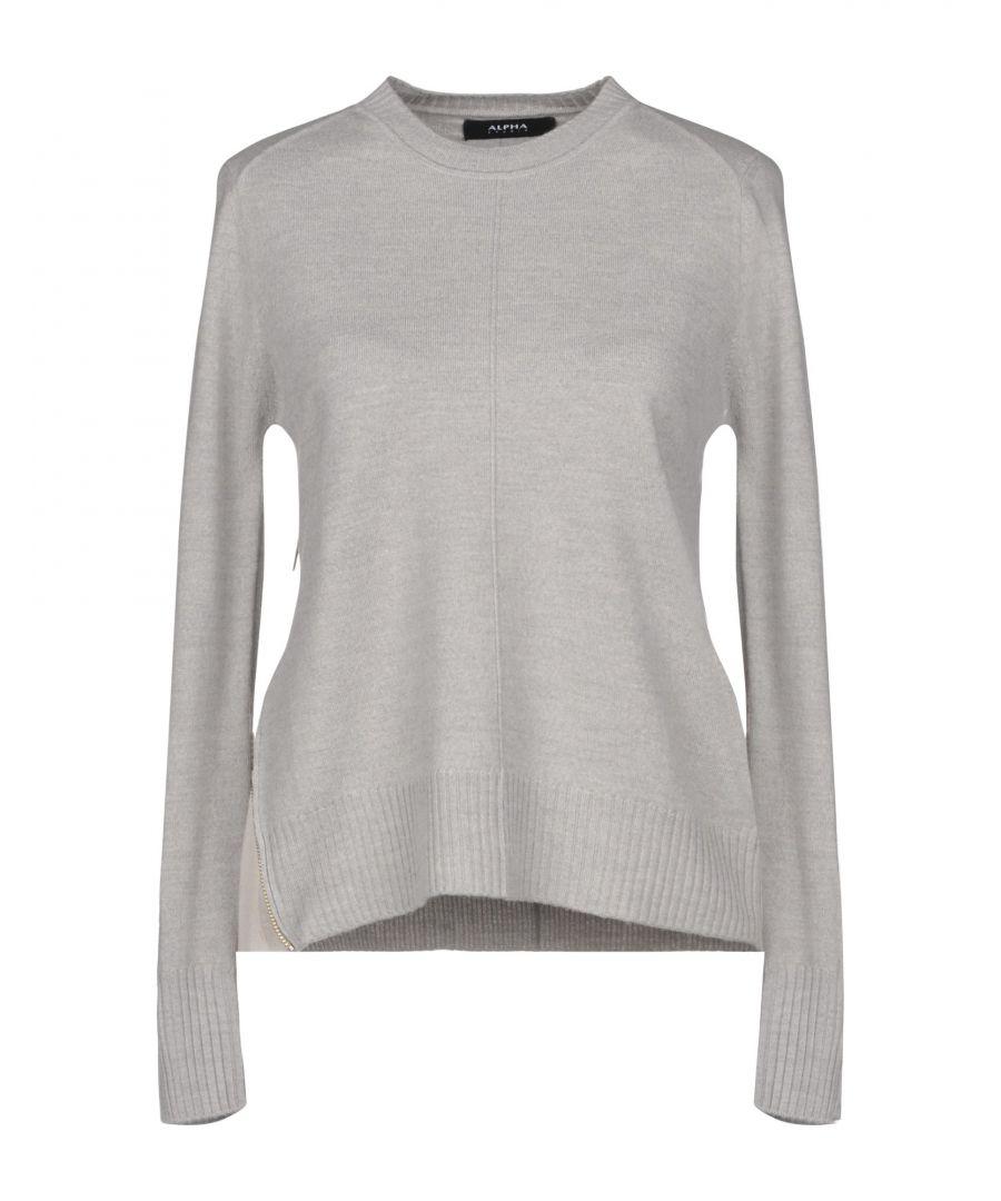 Image for Alpha Studio Grey Merino Wool Jumper