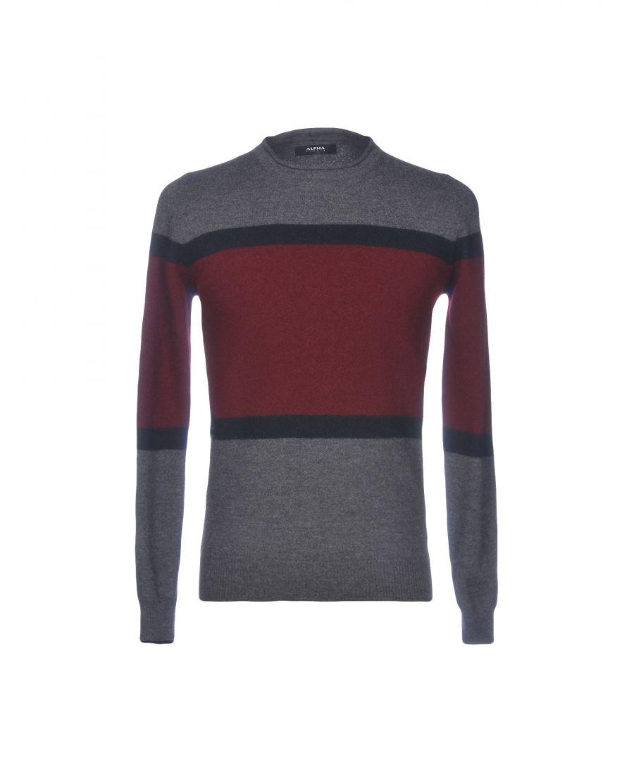 Image for Alpha Studio Grey Merino Wool Jumper