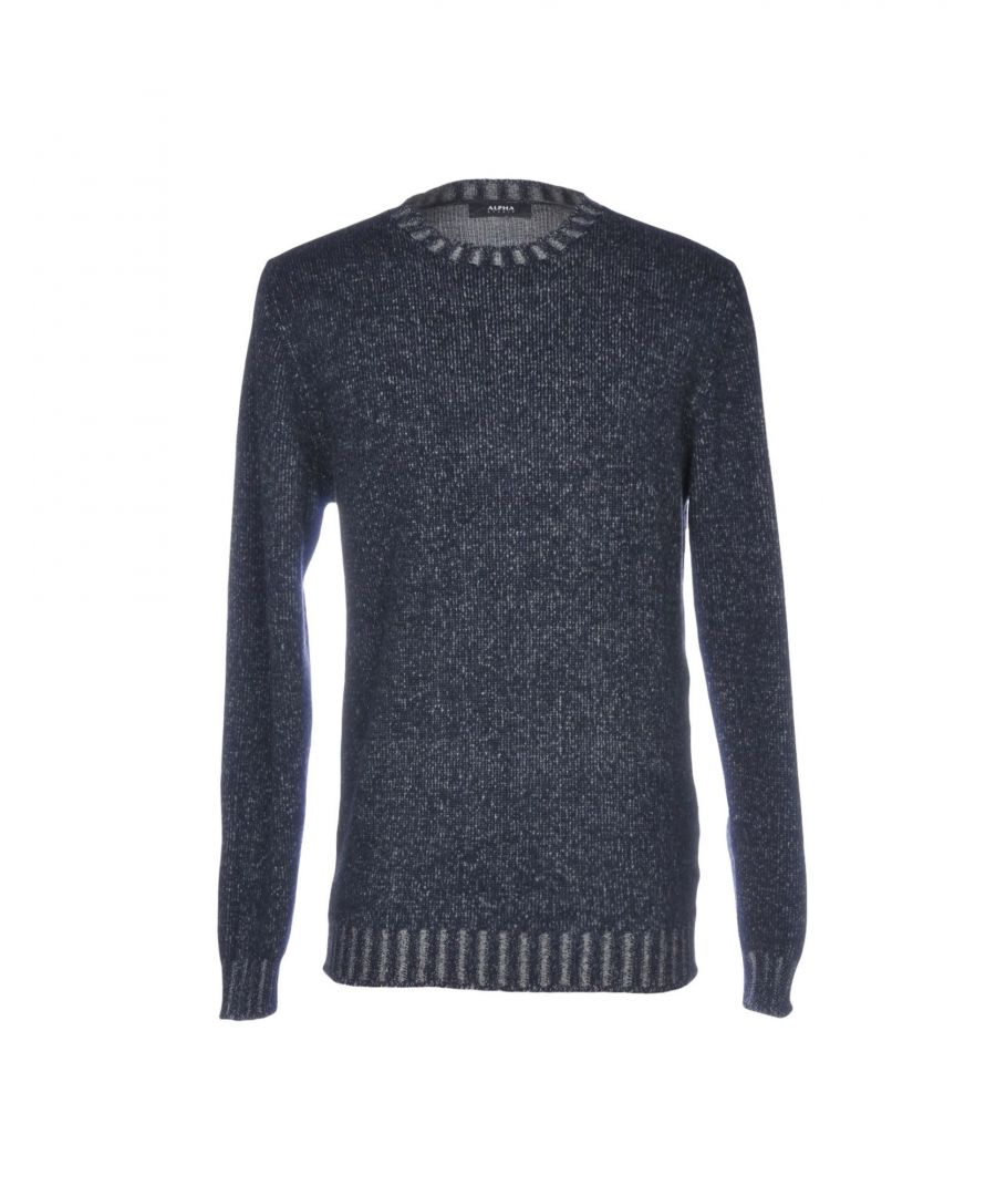 Image for Alpha Studio Dark Blue Wool Jumper