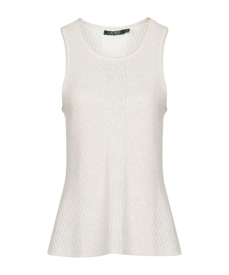 Image for Lauren Ralph Lauren Ivory Linen Sleeveless Knit