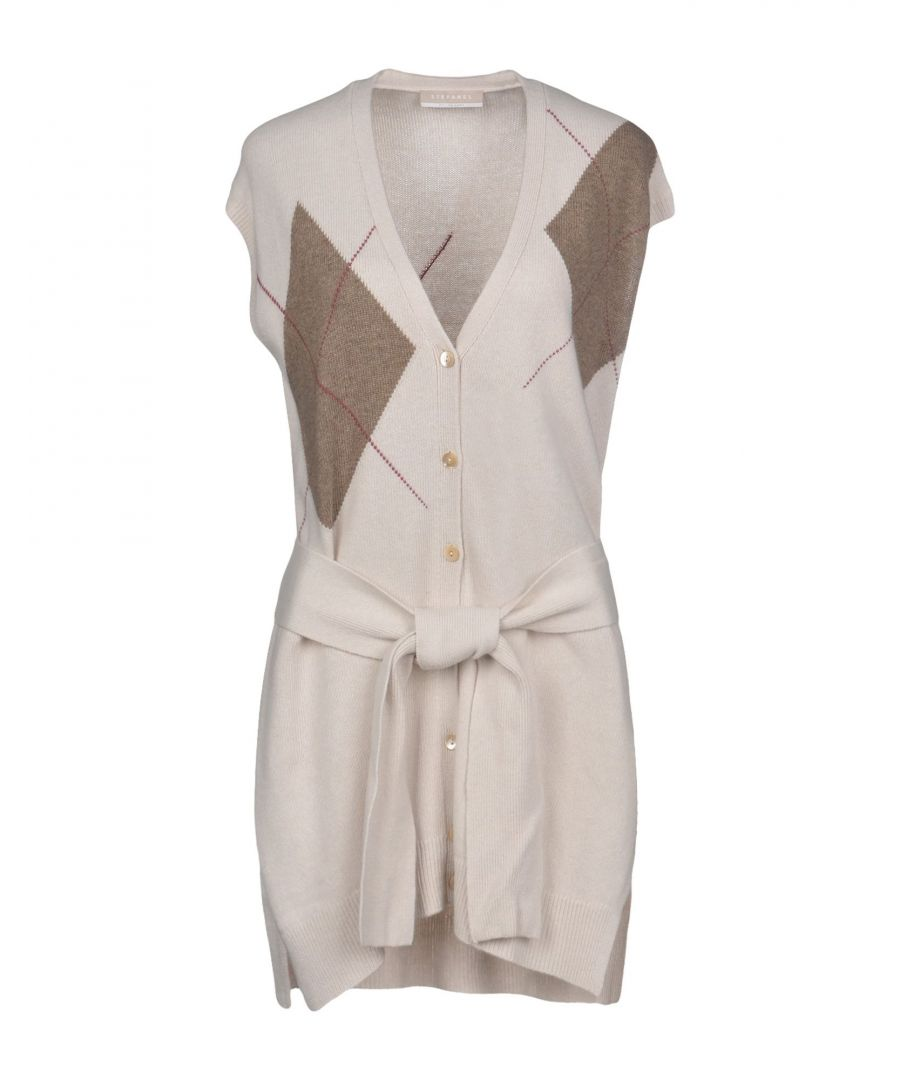 Image for Stefanel Light Grey Wool Tie Waist Cardigan
