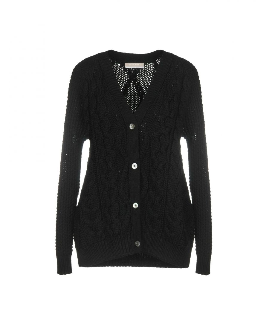 Image for Stefanel Black Wool Knit Cardigan