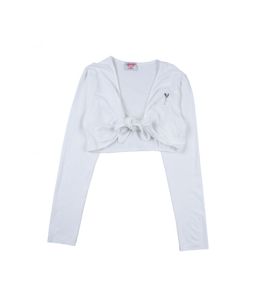 Image for KNITWEAR Girl Twinset White Viscose