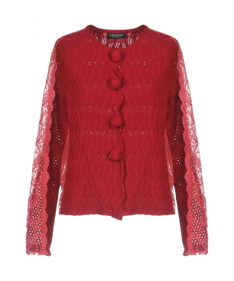 Image for Twinset Maroon Wool Cardigan