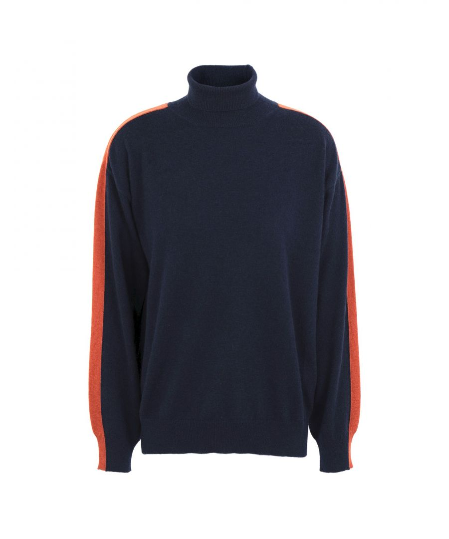 Image for Kash Dark Blue Cashmere Jumper