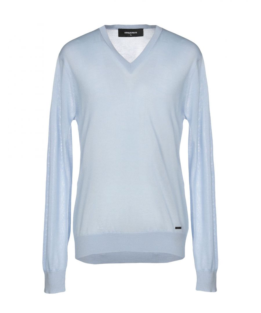 Image for Dsquared2 Sky Blue Cashmere Jumpers