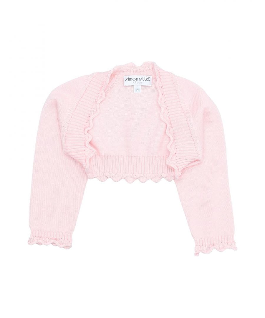 Image for KNITWEAR Girl Simonetta Tiny Light pink Cotton