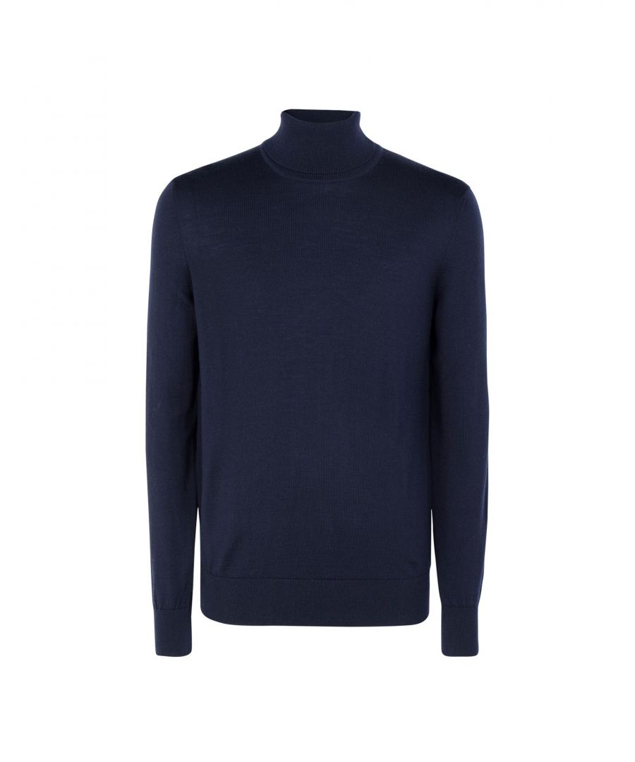 Image for Tommy Hilfiger Dark Blue Wool Knit Jumper
