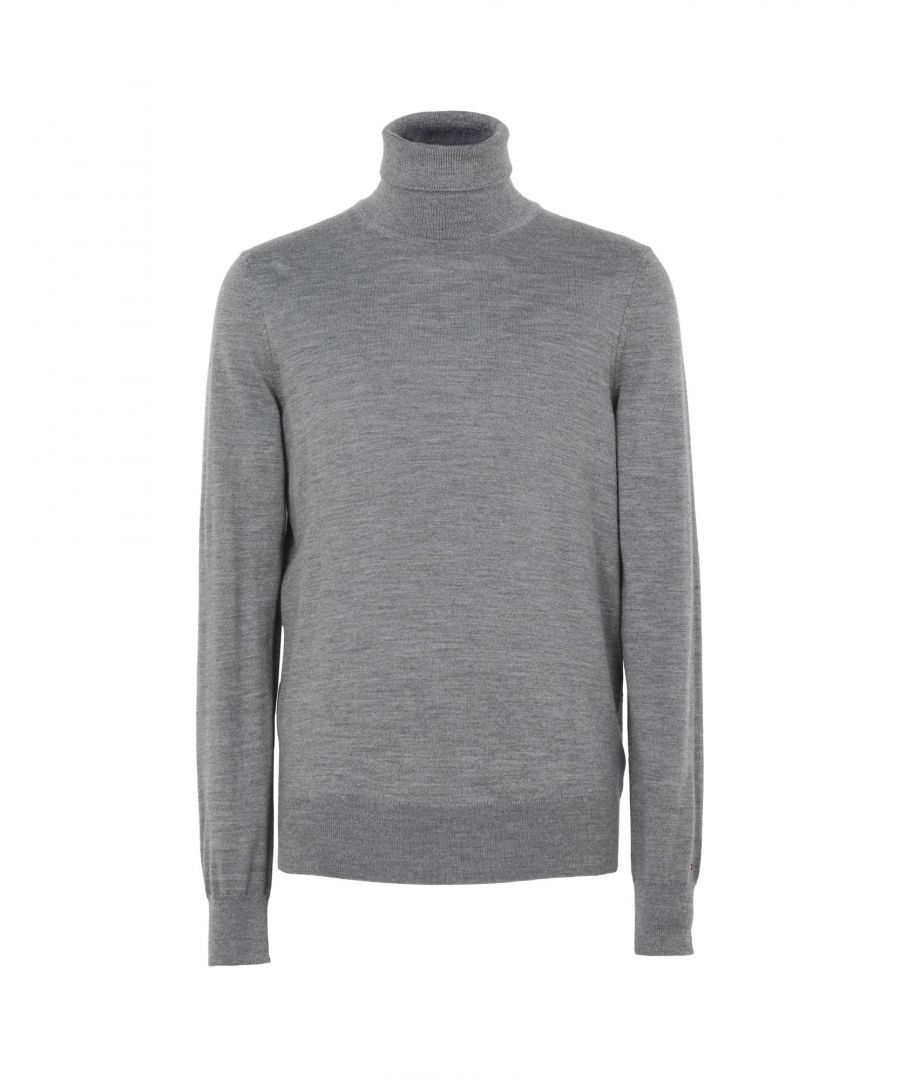 Image for Tommy Hilfiger Grey Wool Lightweight Knit Jumper