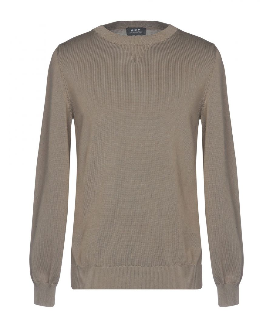 Image for A.P.C. Military green Cotton Jumpers