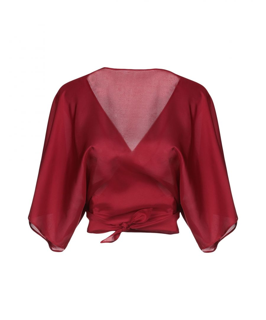 Image for Jucca Maroon Silk Wrap Blouse