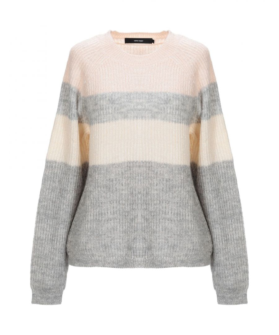 Image for Vero Moda Beige Stripe Jumper