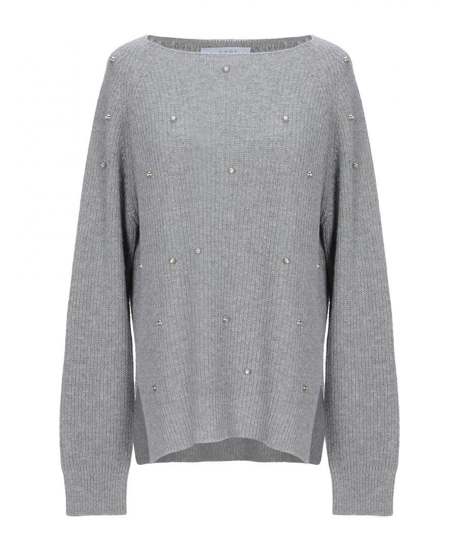 Image for Kaos Grey Embellished Jumper
