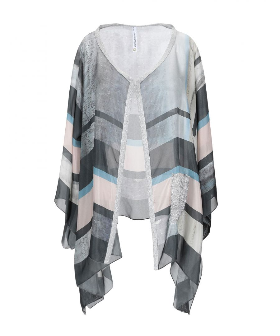 Image for Pianurastudio Grey Stripe Silk Knit Wrap