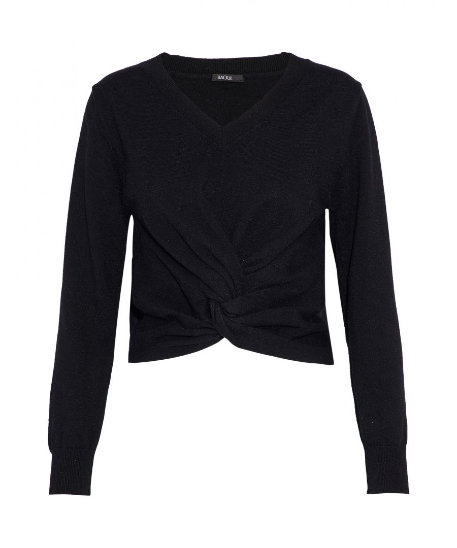 Image for Raoul Black Cotton Lightweight Knit