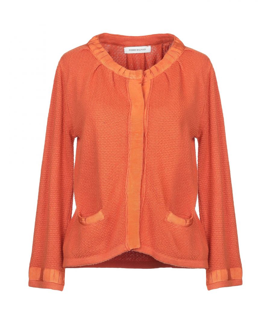 Image for Pierre Balmain Orange Knit Cardigan
