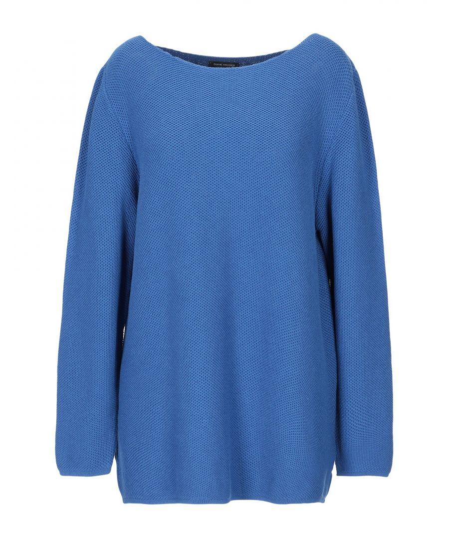 Image for Diane Kruger Blue Cotton Jumper