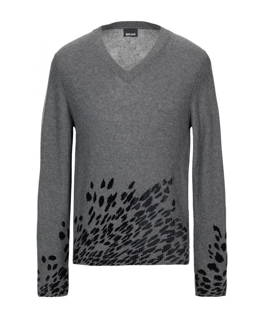 Image for Just Cavalli Grey Wool Knit Jumper