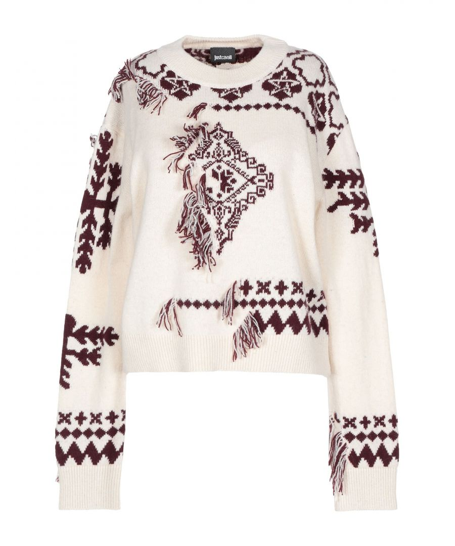 Image for Just Cavalli Woman Jumpers Ivory Alpaca