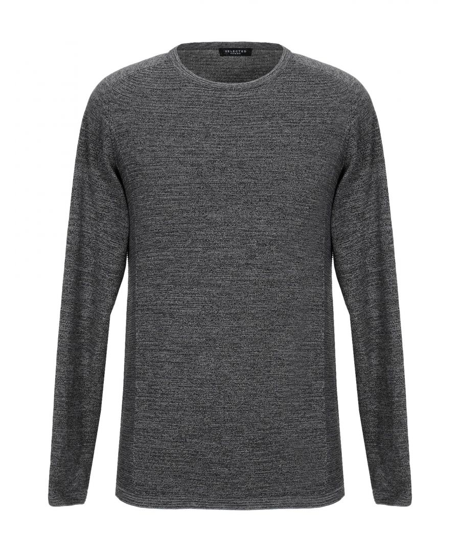 Image for Selected Homme Steel Grey Organic Cotton Knit Jumper