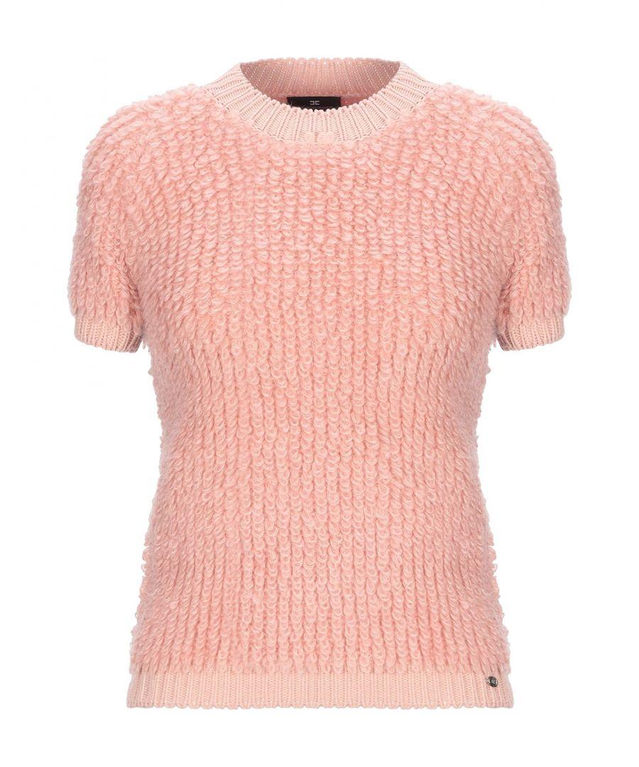 Image for Elisabetta Franchi Pastel Pink Mohair Wool Short Sleeve Jumper
