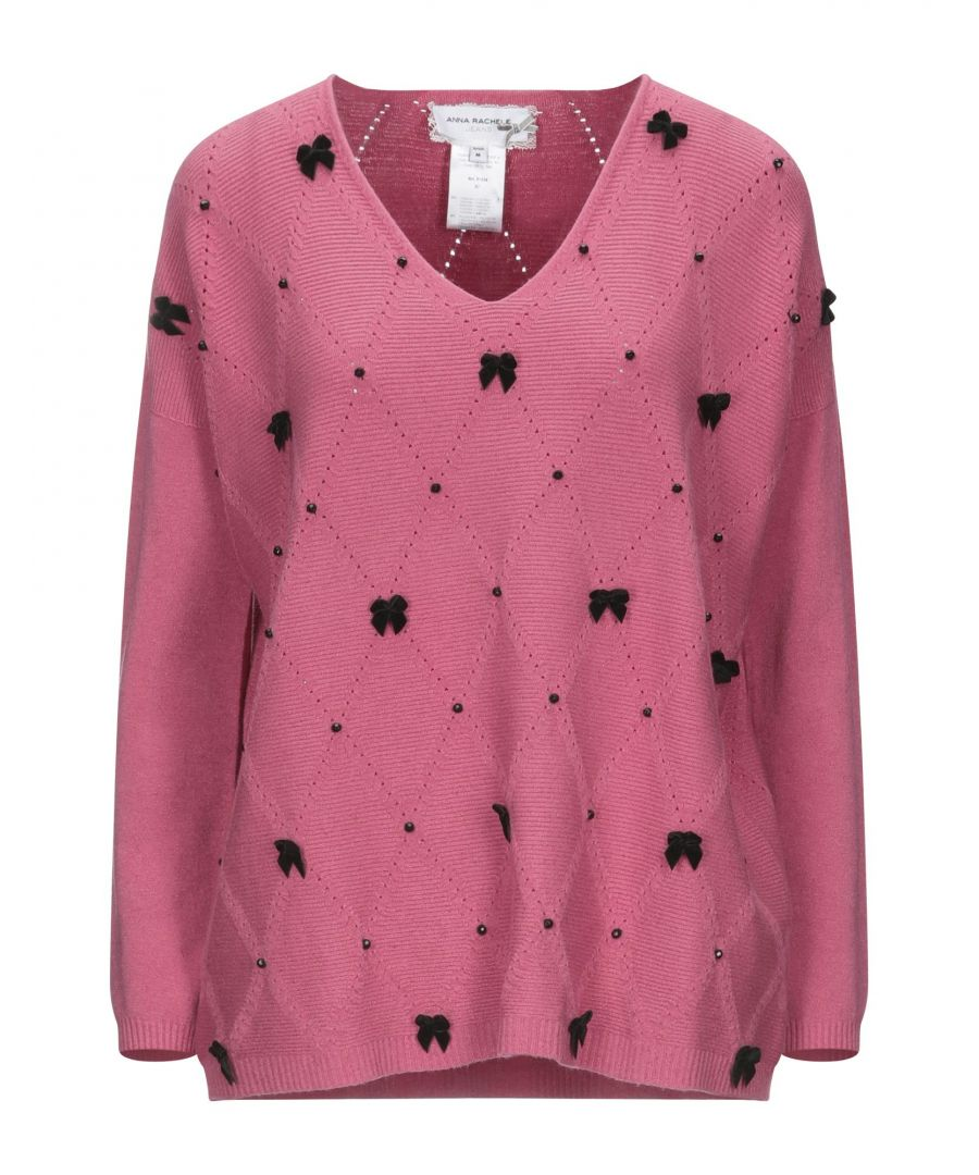 Image for Anna Rachele Jeans Collection Pink Knit Embellished Jumper