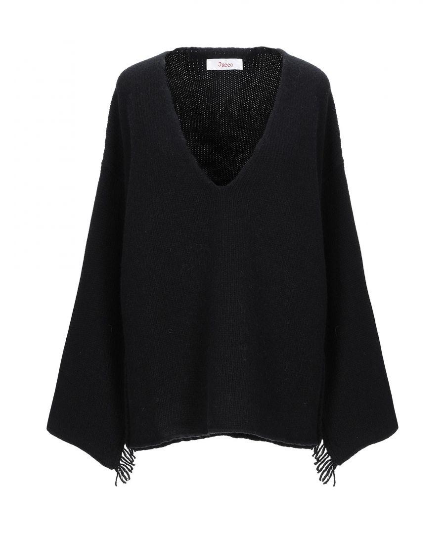 Image for Jucca Black Virgin Wool V Neck Knit