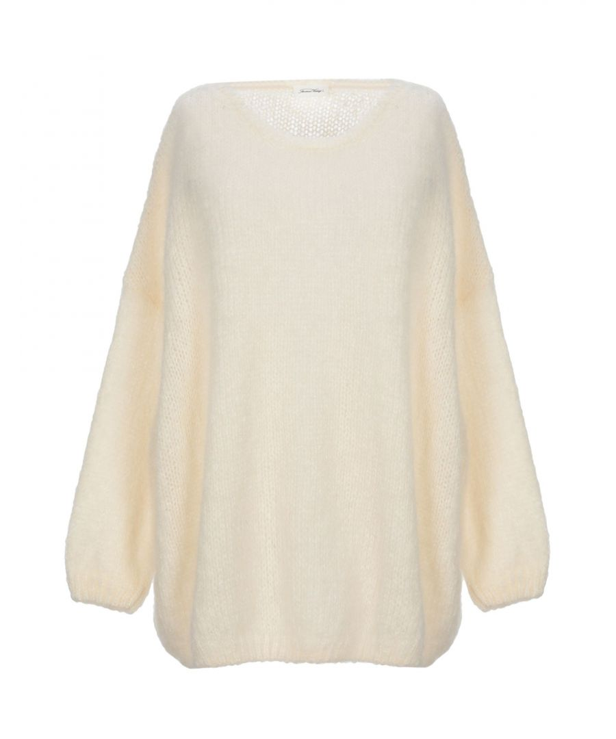 Image for KNITWEAR American Vintage Ivory Woman Mohair wool