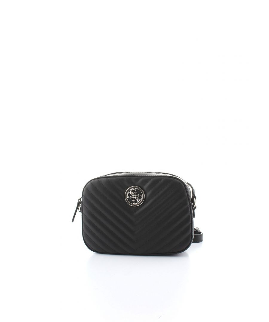 Image for GUESS WOMEN'S HWBQ6691120BLACK BLACK POLYURETHANE SHOULDER BAG