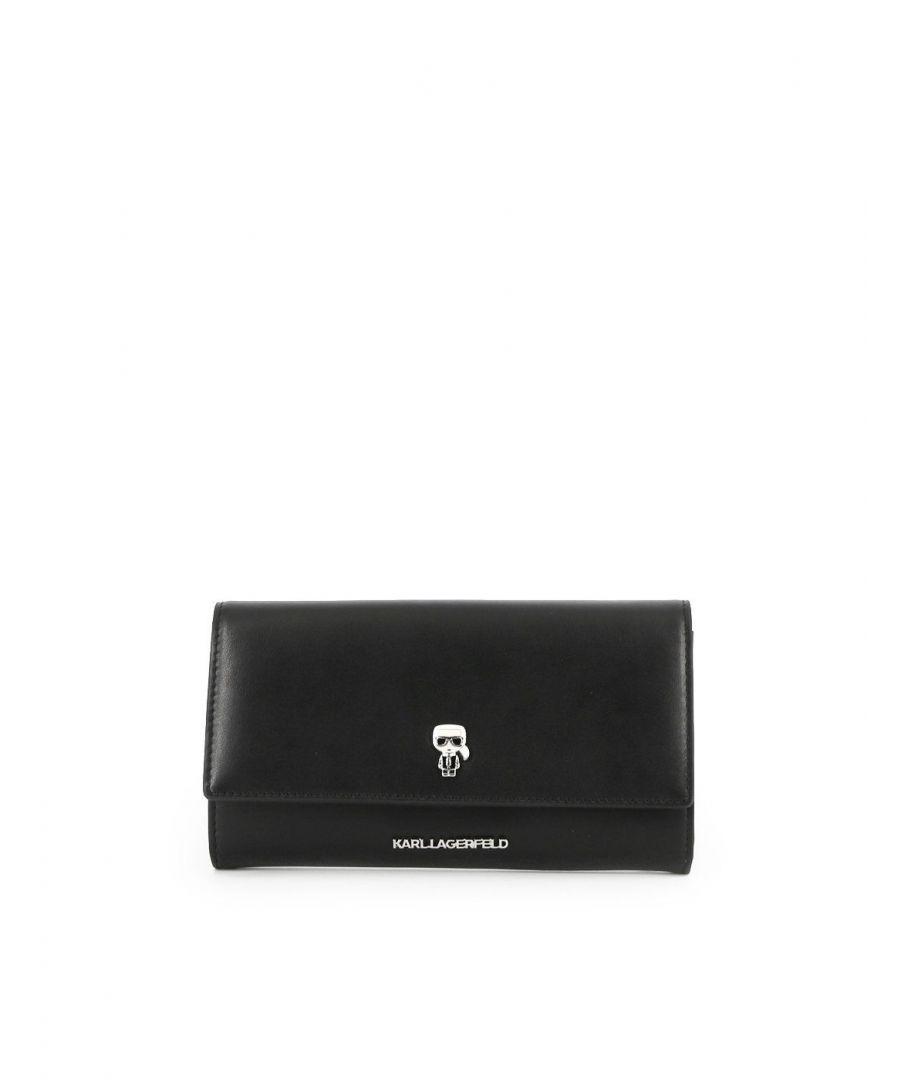 Image for KARL LAGERFELD WOMEN'S 201W3216BLACK BLACK LEATHER WALLET
