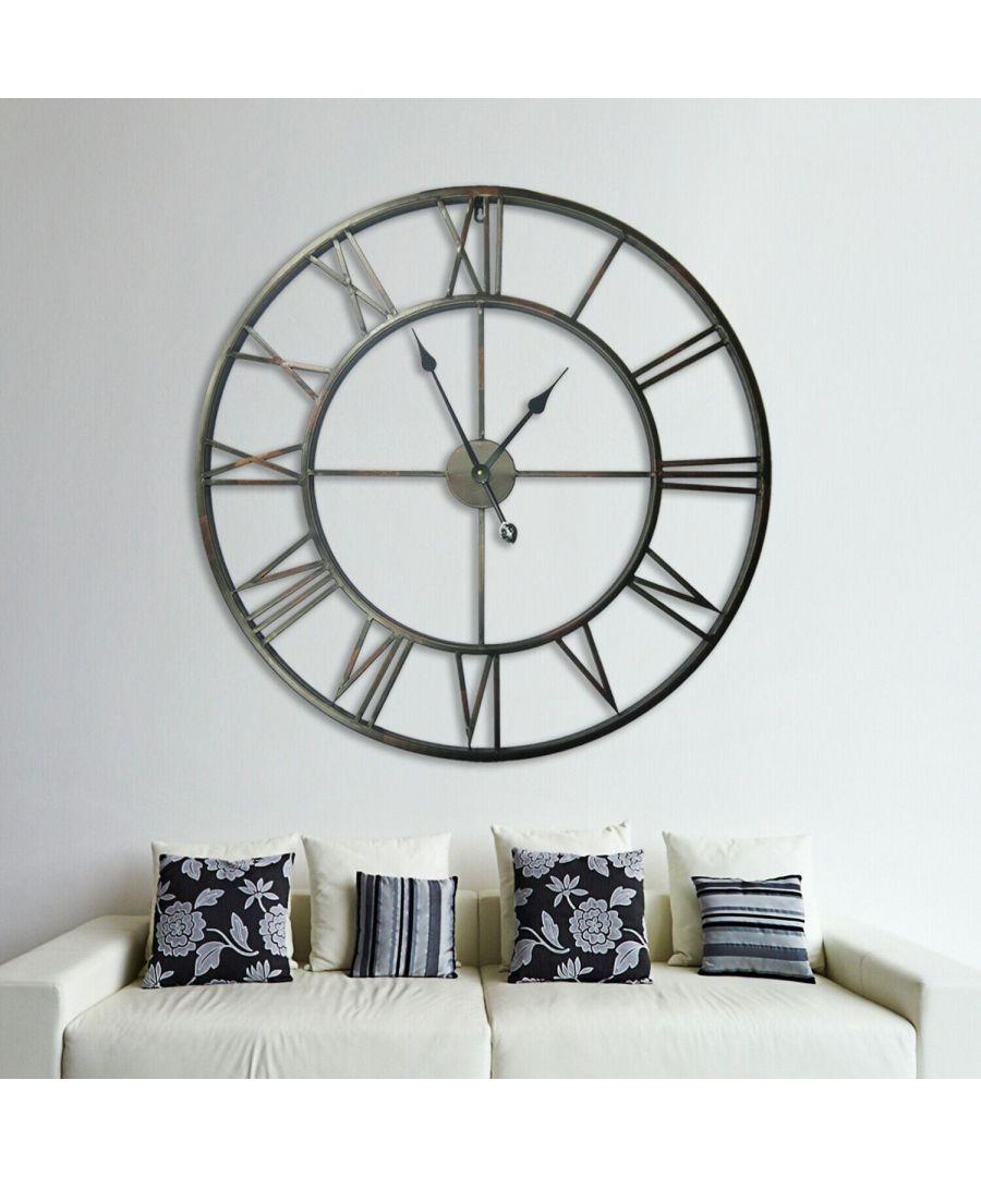 Image for Walplus Roman No. Iron Wall Clock 100cm clock, Bedroom, Living room, Modern, Home office essential, Gift, Oversize Clock