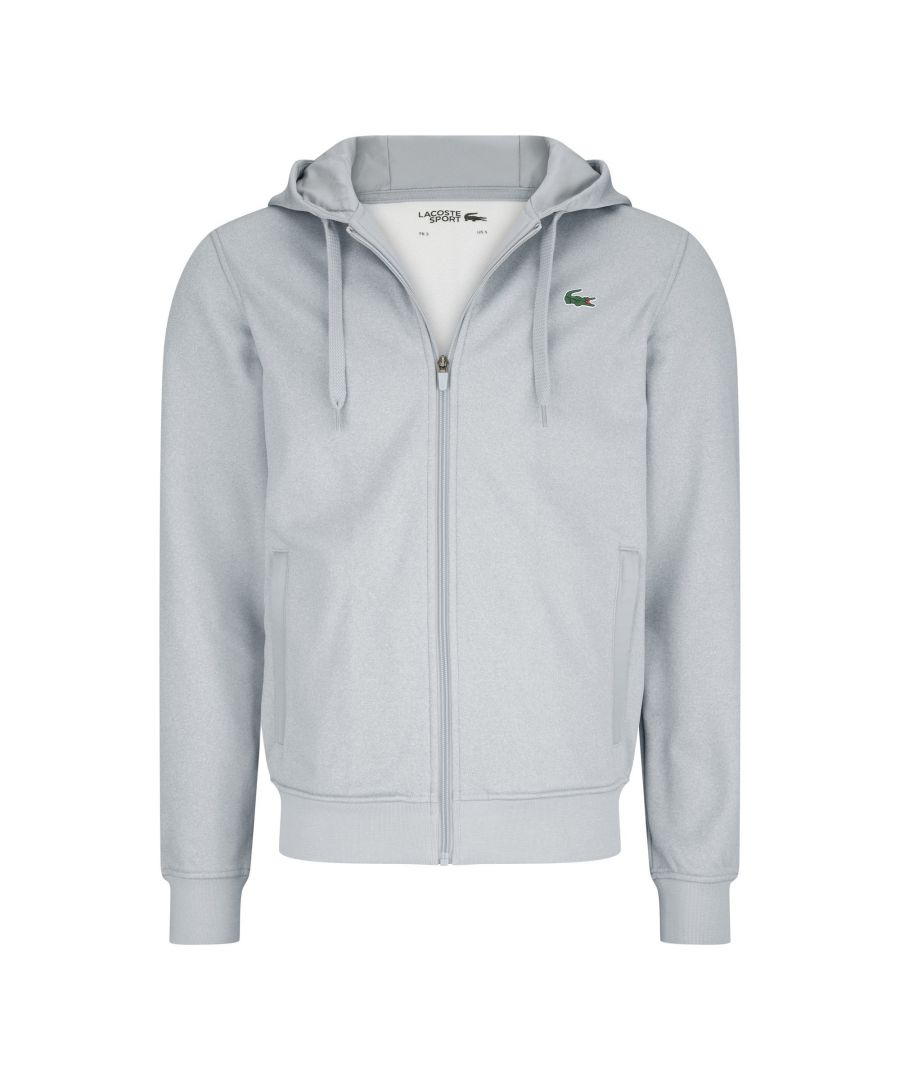 Image for Lacoste Polyester Full Zip Hoodie - Grey