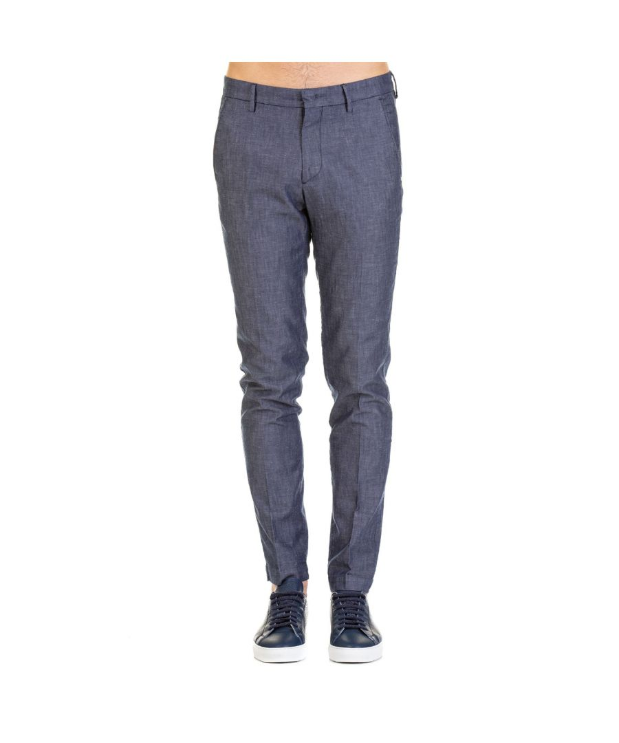 Image for MICHAEL COAL MEN'S MCBRAD33423342 BLUE COTTON PANTS