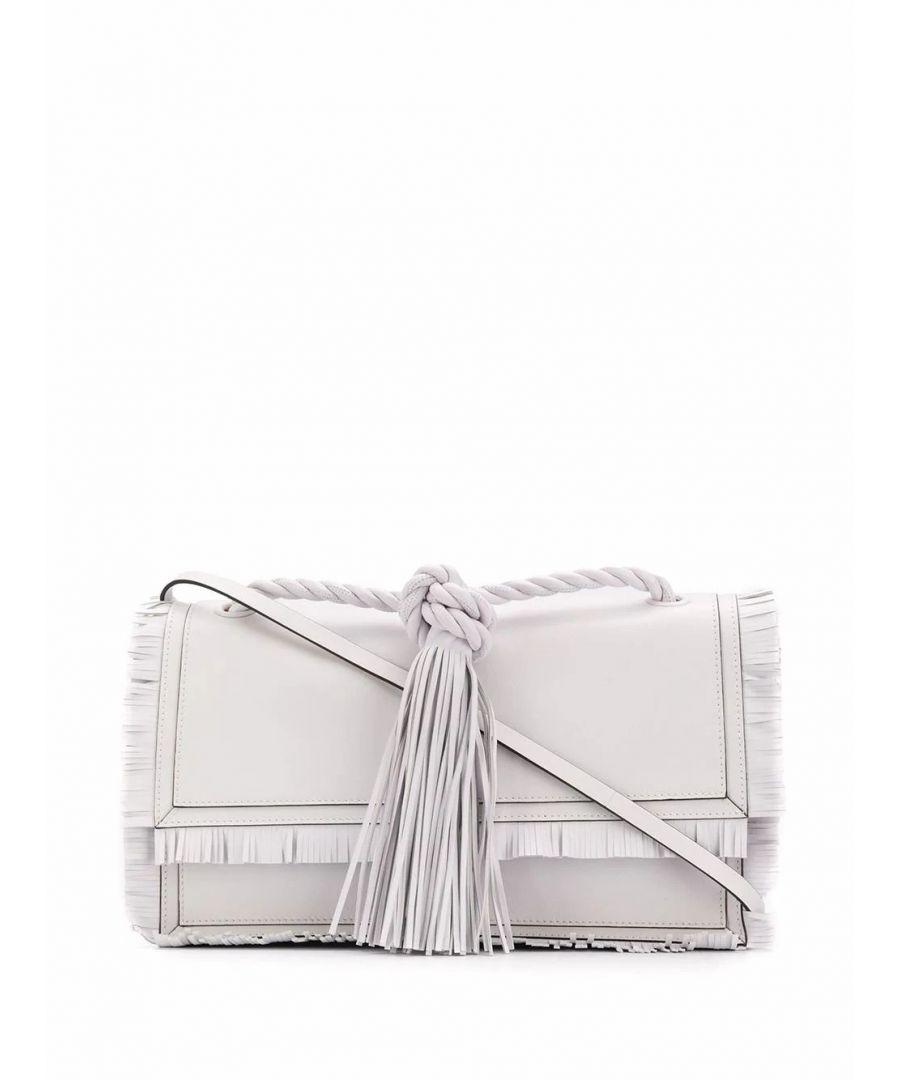 Image for VALENTINO WOMEN'S TW0B0G74JMS001 WHITE LEATHER SHOULDER BAG