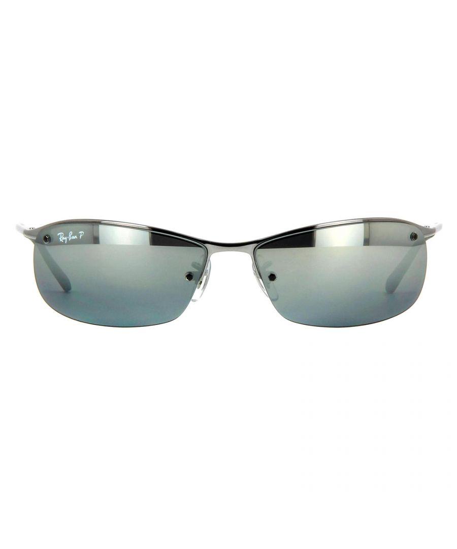 Image for Ray-Ban Sunglasses 3183 004 82 Gunmetal Silver Mirror Polarized