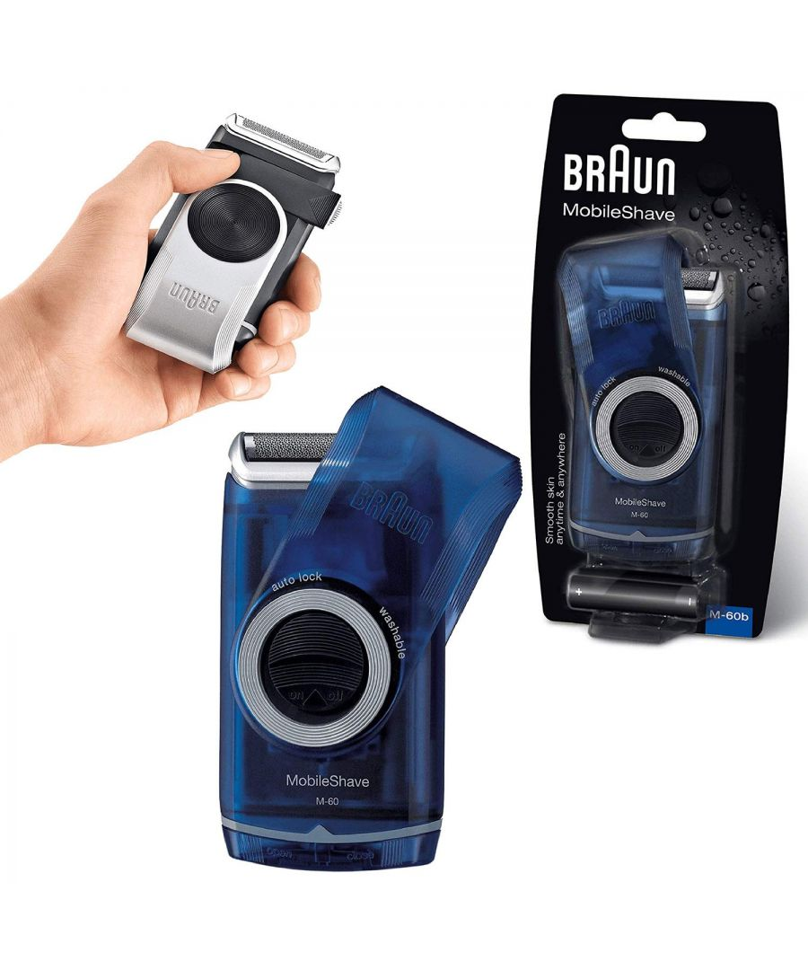 Image for Braun Pocket Go M60B MobileShave Portable Grooming Shaver