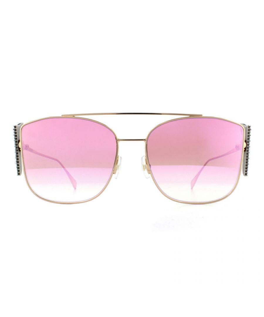 Image for Fendi Sunglasses FF 0380/G/S DDB VQ Gold Copper Pink Mirror