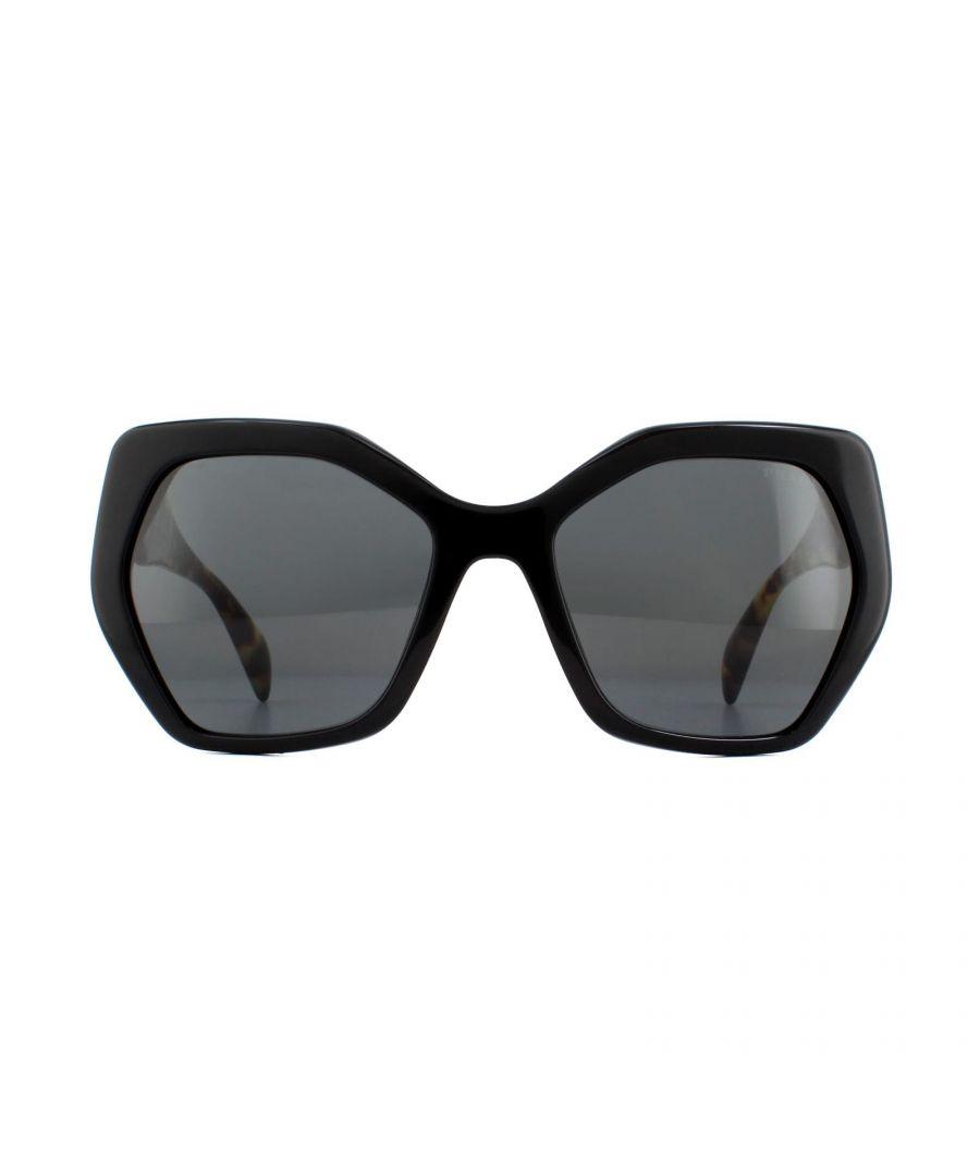 Image for Prada Sunglasses PR 16RS 1AB5S0 Black Havana Grey