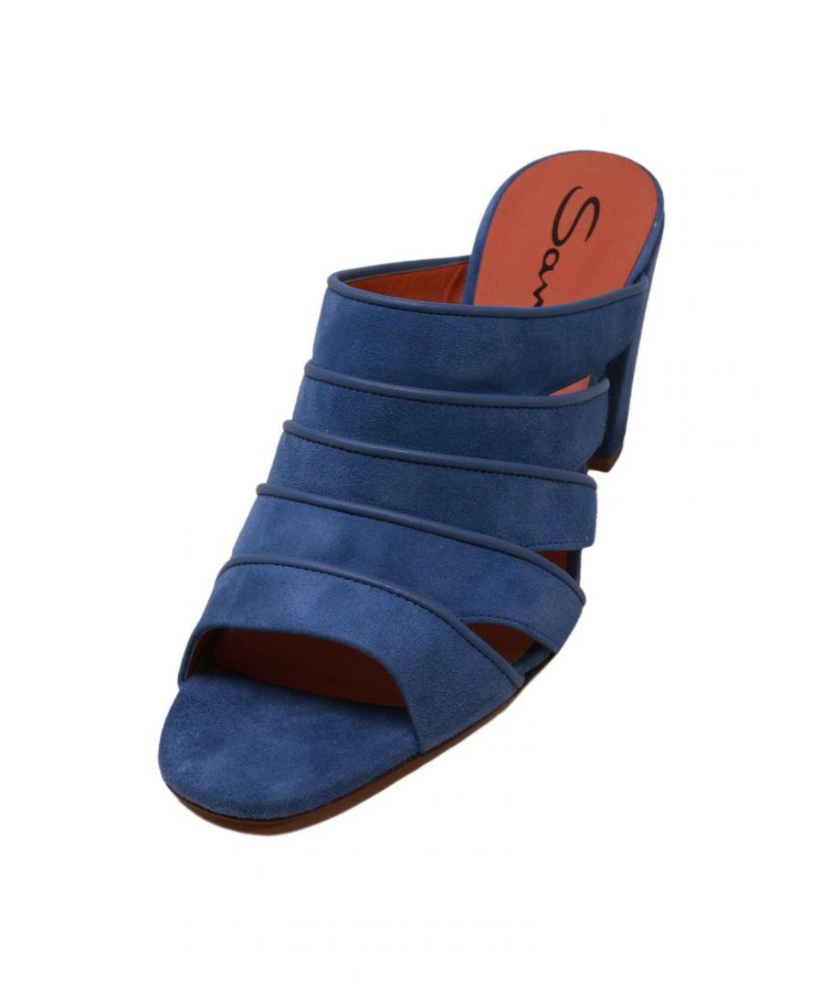 Image for Santoni Women's Marnie Blue Leather Heel - 9 M