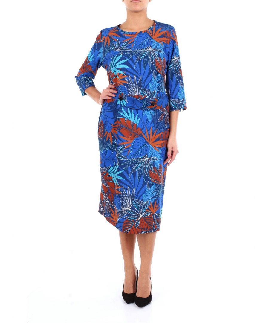 Image for ALTEA WOMEN'S 1966534MULTICOLOR BLUE VISCOSE DRESS