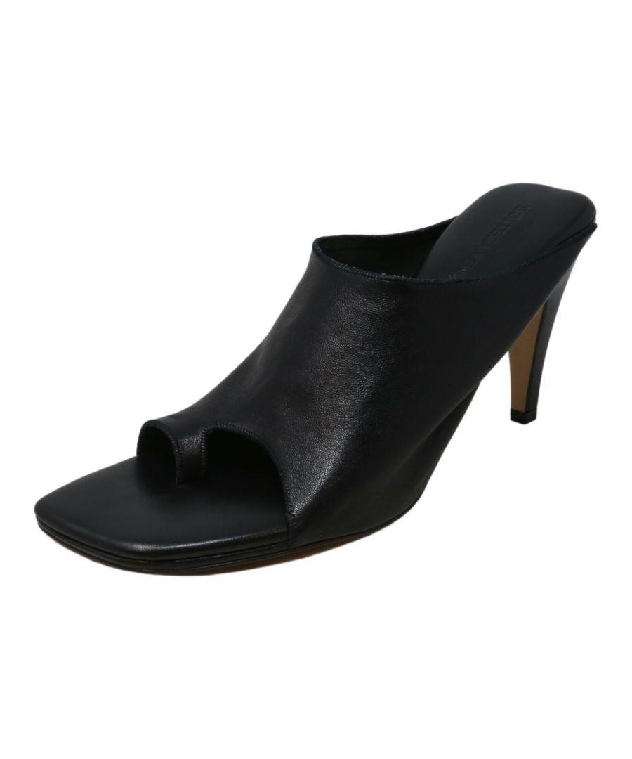 Image for Bottega Veneta Women's Pelle Sandal Nero Leather Heel - 8.5 M